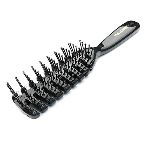 Peigne de cheveux professionnel Peut être utilisé pour souffler Cheveux raides Salon Peigne de style professionnel Noir