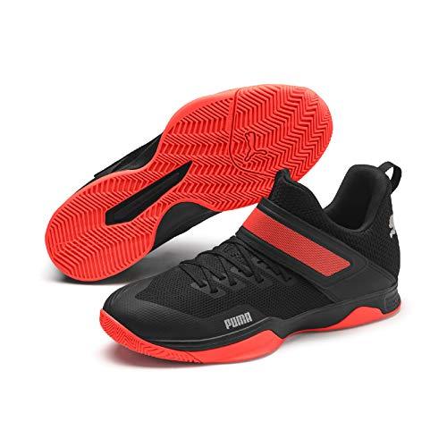 Puma Rise Xt 3, Scarpe da Calcetto Indoor Unisex-Adulto, Black/Silver/Nrgy Red 01, 10.5 EU