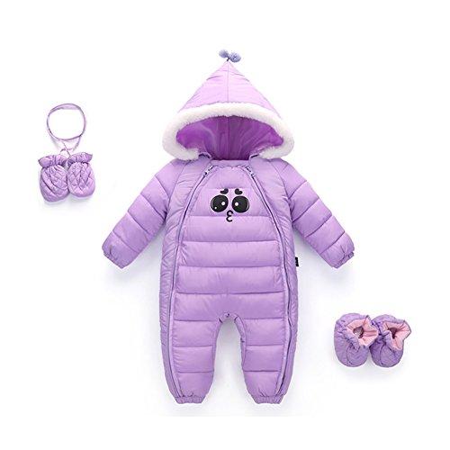 Hzjundasi bambino tute da neve infantile neonato felpa con cappuccio piumino un pezzo inverno addensare pagliaccetto set 0-24 mesi jumpsuits 90cm