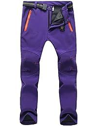 YiLianDa Pantalones de Trekking Pantalones de Softshell Impermeables Resistente al Viento…