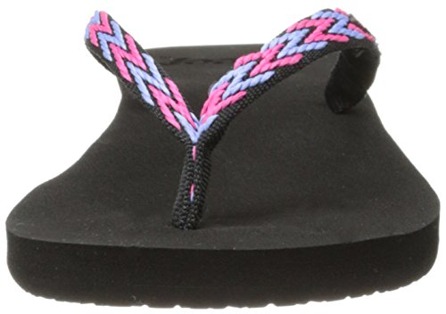 Reef Ginger, Tongs femme Multicolore (BLACK/HOT PINK/KHB)