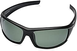 Fastrack UV Protected Wrap-Around Mens Sunglasses - (P223GR3P|66|Green Color)