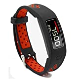 T-BLUER Silikon Colorful Ersatz Armband Strap für Garmin Vivofit 2 mit Verschlüsse Fitness-Bänder für alle Größen geeignet, kein Tracker enthalten (Nicht für Garmin Vivofit1 / Vivofit3)