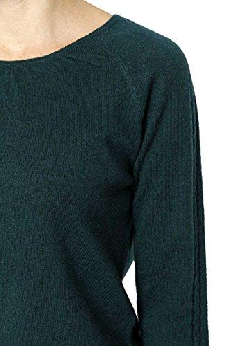 Lai La New York Pullover cachemire ELENA Verde scuro