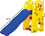 TruGood Indoor/Outdoor Foldable Baby Garden Slide for Kids (Big Giraffe)