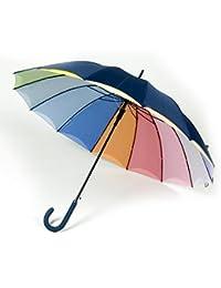 Paraguas automático doble tela azul-colores