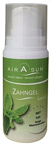 Zahnpasta Gel basisch ohne Fluorid und Menthol - mit Xylit Minze 100 ml (Xylit Gel-zahnpasta)