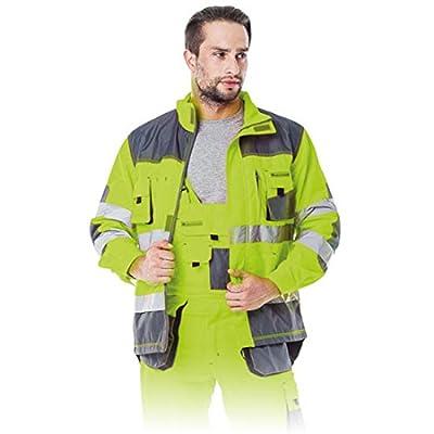 Arbeitsjacke Reflektoren Warnschutzjacke Warnjacke neongelb Warnschutz Warnschutzkleidung Sicherheitsjacke Schutzjacke XL gelb