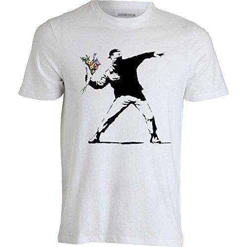 banksy-graffiti-street-art-revoliution-flowers-molotov-t-shirt-homme-blanc-m