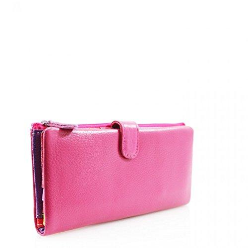 LeahWard® Damen Echt Leder Geldbörsen Brieftasche Münze Tasche Zum DamenGris Damen Schlüssel Karte Foto Bestehen Passhalter 3595 Schwarz H10cm x W19cm x D2.5cm