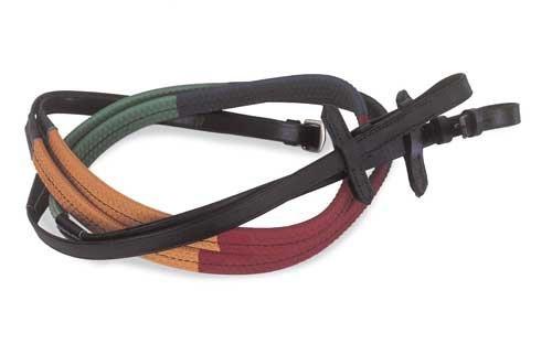 Windsor Equestrian Zügel, gummiert, mehrfarbig, 159 cm