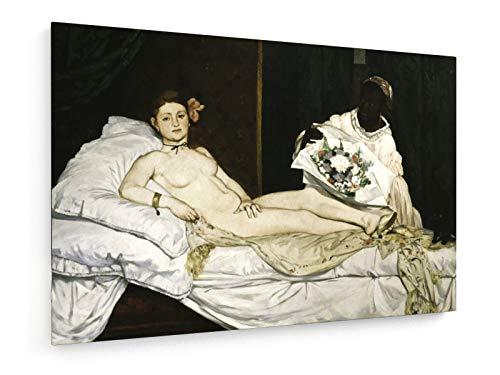 Eduard Manet - Olympia - 1863-60x40 cm - Leinwandbild auf Keilrahmen - Wand-Bild - Kunst, Gemälde, Foto, Bild auf Leinwand - Alte Meister/Museum