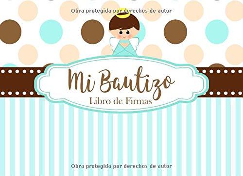 Firmas: Recuerdos y Consejos a los Padres Portada Azul y Cafe con Angelito ()