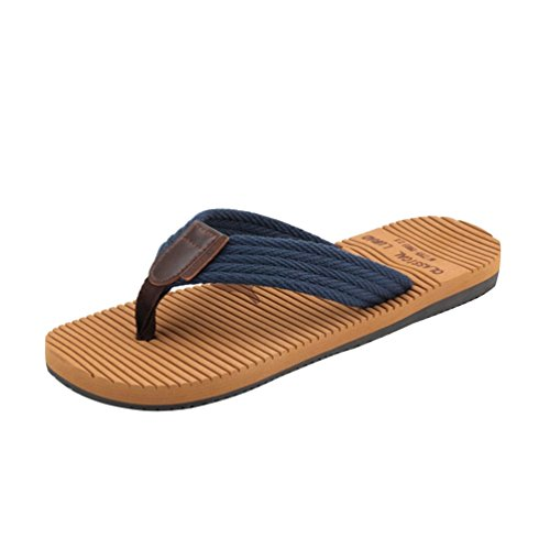 Baymate Hommes Mode Tongs Bout Ouvert Plage Chaussons Confort Sandales