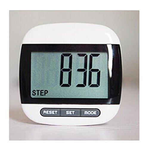 Domire Multi-Function Black Pedometer with LCD Display / Step Count / Distance and Calorie Counter Function with Belt…