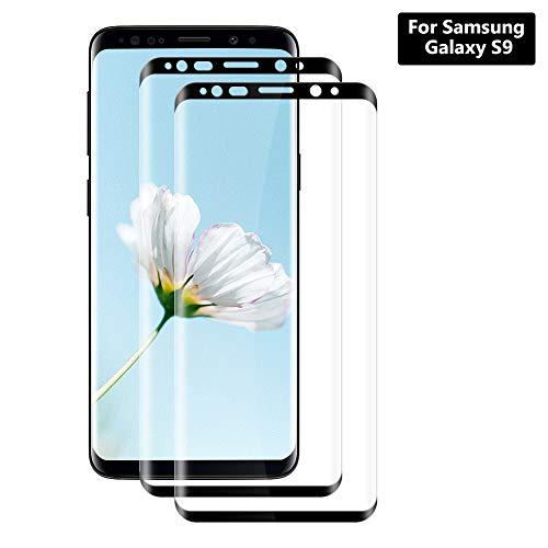 Vetro Temperato Samsung Galaxy S9 Pellicola [2 Pezzi], Hanbee Pellicola Protettiva Screen Protector per Samsung Galaxy S9 [Nessuna Bolla] [Compatibile con Custodia] [3D Copertura]