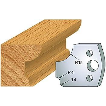 Jeu de 2 fers doucine ht 40 mm pour porte outils entraxe plot 24 mm 031