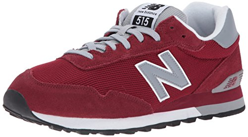 89ce6894cab New Balance Mens 515 Classics Mercury Red Silver Mink Suede Trainers 43 EU
