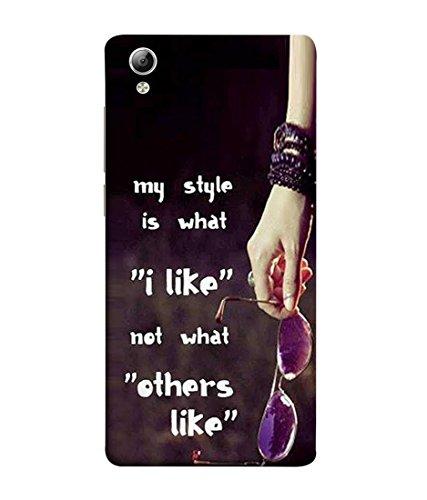 PrintVisa Designer Back Case Cover for VivoY51L (my style rocking attitude quote)