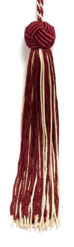 Set von 10Gold, Cherry rot gewebt Head Chainette Quaste, 14cm lang mit 5,1cm Loop, Basic Rand Collection Stil # bh055Farbe: 572 -