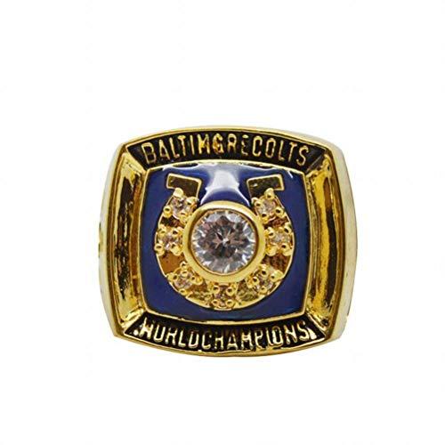 CWHao-Rings Sportfans Kollektion Champion Rings Fans Herren Memorial Rings High-End Kollektionen Fans Alloy Rings Herren Accessoires Vintage Accessoires, Gold, 11