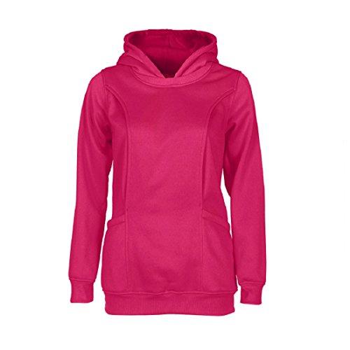 Malloom Maternité Vêtements Chemisier Chaud Bébé Allaitement Grossesse Enceinte Top Rose vif