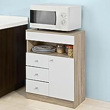 Mueble auxiliar cocina for Mueble auxiliar microondas