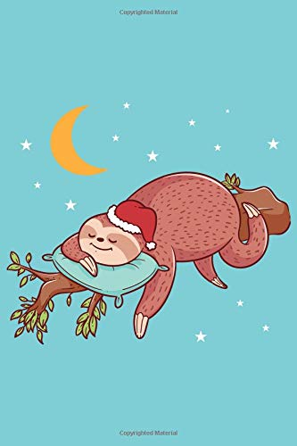 Christmas Sloth Sleeps Notebook: Sermon Notes Journal for Church Note-Taking