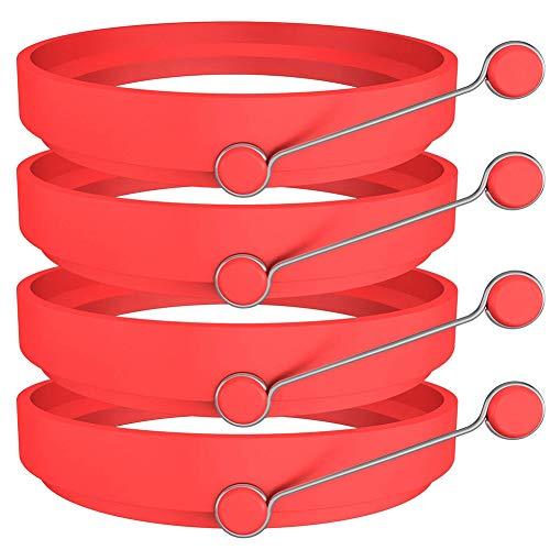 Ring Mehrzweck- Ringform Ei Praxis Silikonform Pancake Küchenform rot ()