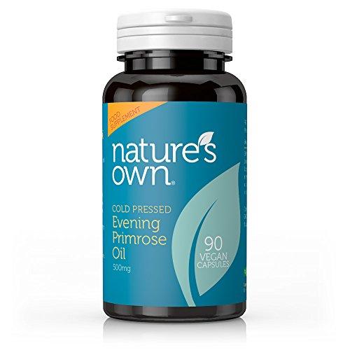 Natures Own Cold Pressed Evening Primrose Oil - 90 x 500mg Vegicaps - Nachtkerzen Samen Öl