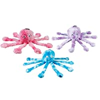 Gor Pets Fun Dog Chew Toy Soft Cuddly with Squeeky Feet Baby Octopus (Assorted colors )