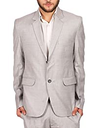 Men's OCM Linen Wool Blend Two Buttoned Notch Lapel Ceremony and Casual Blazer