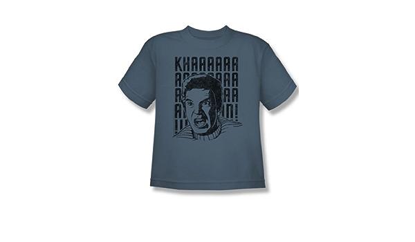 Youth Khan Yell T-Shirt In Slate Star Trek