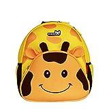 Noho Haha 3D Giraffe Kinderrucksäcke für Kindergarten,Schule und Wandern,für 2-5 Jahre Mädchen und Jungen (yellow)