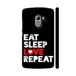 Colorpur Eat Sleep Love Repeat Printed Back Case Cover for Lenovo K4 Note