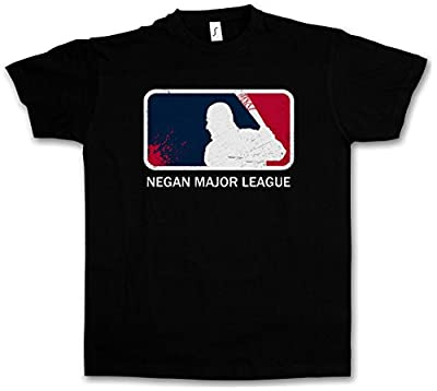 "NEGAN MAJOR LEAGUE ""J"" T-SHIRT – Walking The Lucille Baseball Bat Dead Rick Carl Zombie Grimes Biters Barbwire Tailles S – 5XL"