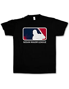 "Urban Backwoods Negan Major League ""J"" T-Shirt – Walking The Lucille Baseball Bat Dead Rick Carl Zombie Grimes..."