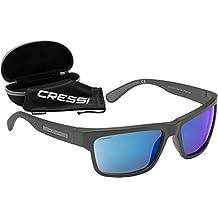 Cressi Ipanema Gafas de Sol, Unisex Adulto, Gris/Lentes Espejados Azul, Talla Única