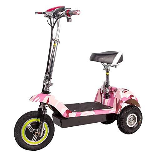 XPZ00 Delfín Eléctrico Triciclo Portátil Mini Plegable Masculino Y Femenino Bicicleta Coche De Batería para Adultos