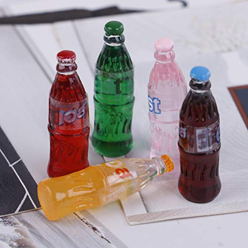 5Pcs 1:12 Dollhouse Miniature Drink Play Food Doll House Kitchen Toys