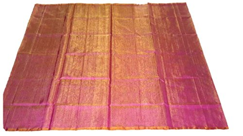 Plain Uppada Tissue Saree (Zari by SIlk Weaving)