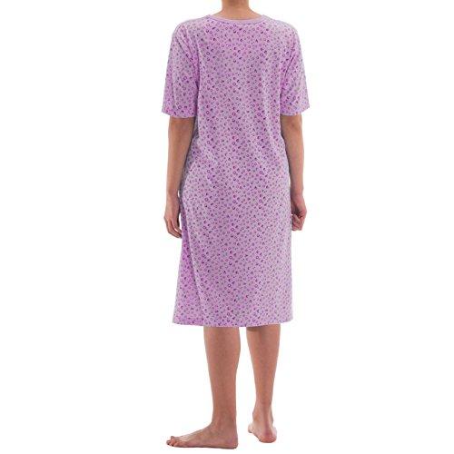 Jolie chemise de nuit à manches courtes romesa effet de grandes tailles Violet - Lilas