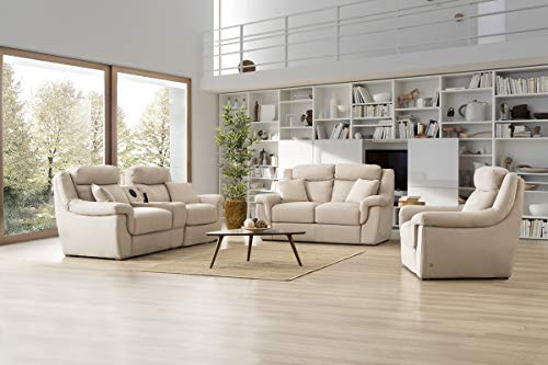 Sofa Dreams Garniture en Tissu avec appuie-tête réglable Mannheim