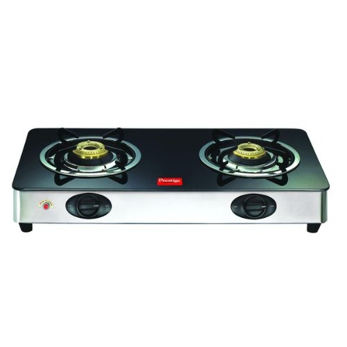 Prestige GT 02 SS Auto Ignition Glass Top Gas Stove