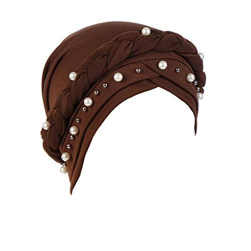 LILIGOD Wrap Cap Muslim Turban India Hut Head Scarf Hat Elastic Headwear Sleeping Kappe Braided...
