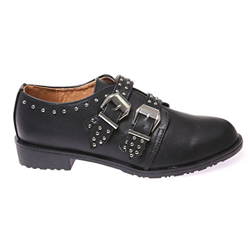 La Modeuse Chaussures de Ville Type Richelieu Noir