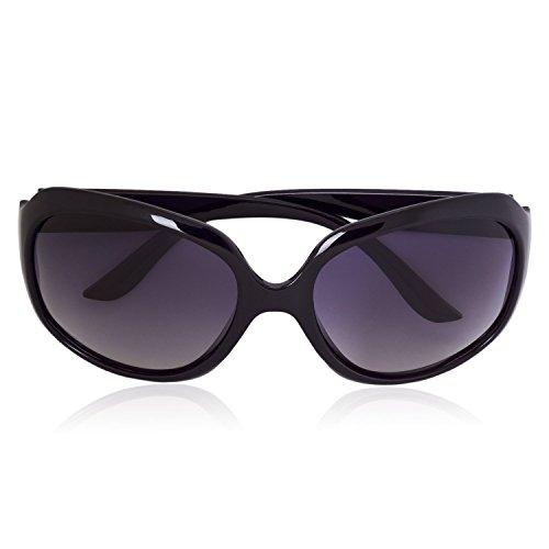 iB-iP Damen Rechteckig Sonnenbrille, Schwarz