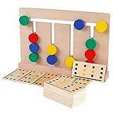Togames-IT Gioco in Legno a Quattro Colori L'insegnamento dell'illuminazione Montessori Aiuta i Giocattoli per Bambini Haha