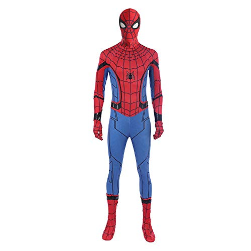 Spiderman Homecoming Cosplay Kostüm Spiderman Zentai Anzug Halloween - rot - Medium