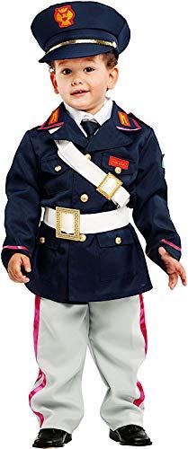 COSTUME di CARNEVALE da PICCOLO POLIZIOTTO vestito per neonato bambino 0-3 Anni travestimento veneziano halloween cosplay festa party 53151 Taglia 3